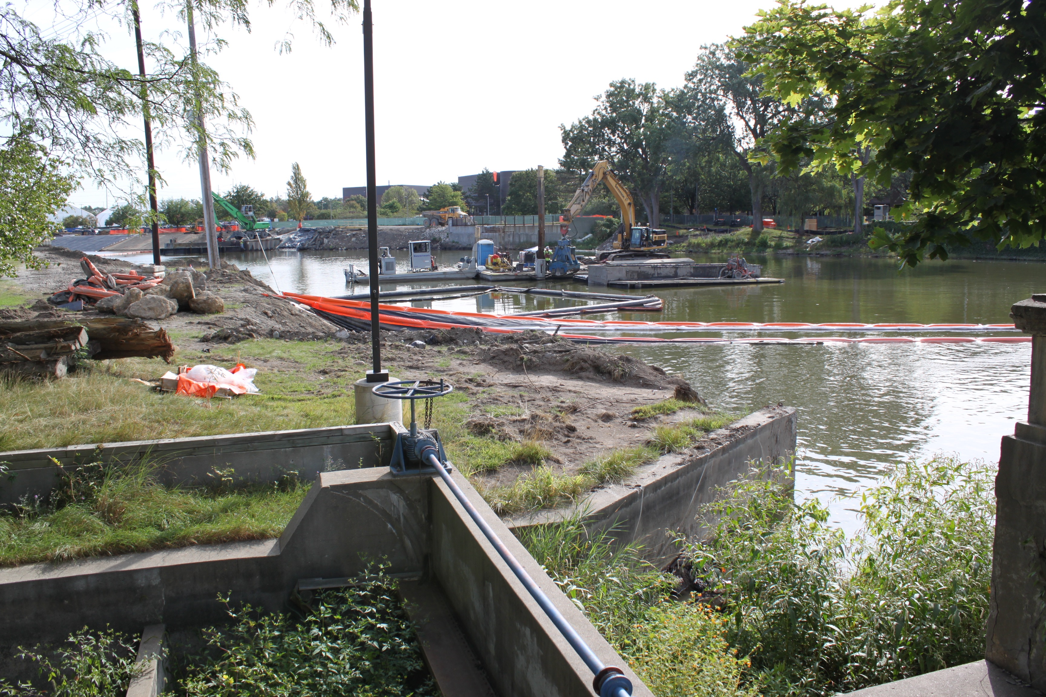 The Consumers Energy remediation project along the Flint River