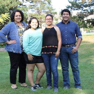 Members of UM-Flint student group Latinos United for Advancement (LUNA)