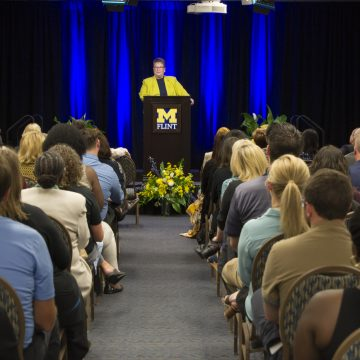 UM-Flint Chancellor highlights positive momentum in State of the University address