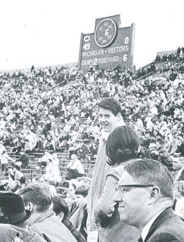 Martin Benowitz, '67 class president, at a game