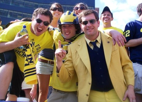 Wade Merrill with friends at The Big House