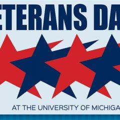 Veterans Day at the University of Michigan-Flint graphic