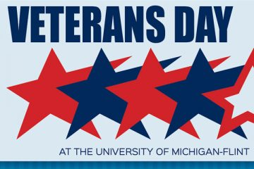 Veterans Day at the University of Michigan-Flint graphic