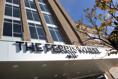The Ferris Wheel Building is located at 615 South Saginaw Street in downtown Flint.