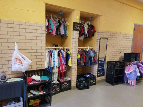 "The ""Cummings Closet"" at Cummings Great Expectations Early Childhood Learning Center"
