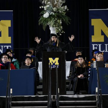 UM-Flint's 2017 December commencement keynote speaker Dr.</body></html>