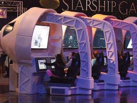 Sloan Museum's interactive exhibit about space travel runs through May 13.