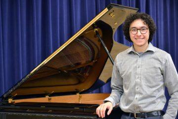 UM-Flint Music student, Antonio Caballero, is the first recipient of the Donald Lorne Wyant Music Scholarship