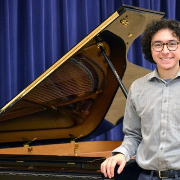 UM-Flint Music student, Antonio Caballero, is the first recipient of the Donald Lorne Wyant Music Scholarship
