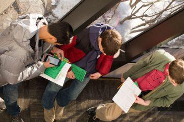 """High school participants at a recent UM-Flint """"Math Field Day"""""""