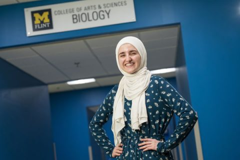 10 a.m. student speaker Noor Abdalla is graduating with a Bachelor of Science in Biology.