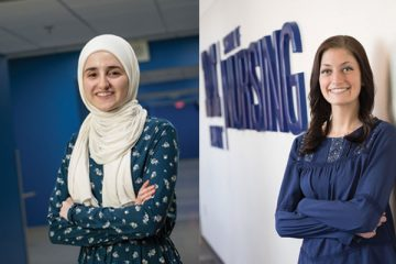 2018 Spring Commencement student speakers Noor Abdalla and Danielle Emerson