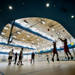 Students play basketball at the UM-Flint Recreation Center
