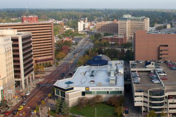 View of downtown Flint looking north.