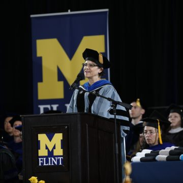 UM-Flint Spring Commencement ceremonies celebrate and inspire new grads