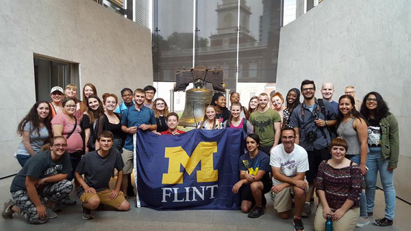 Philadelphia, PA was the destination for UM-Flint's 2017 Alternative Summer Break.