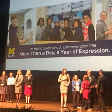 UM-Flint receives Governor's Service Award for outstanding volunteer projects