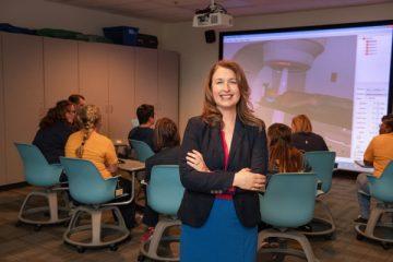 UM-Flint Radiation Therapy director Julie A. Hollenbeck, M.Ed, R.T.(T)
