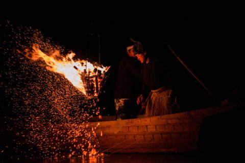 Photo of Ukai, a traditional night fishing method, by UM-Flint MBA student Nick Looney