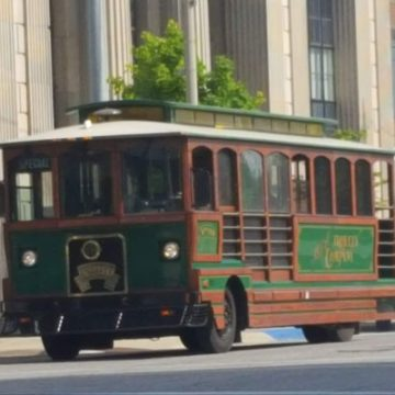 The Downtown Flint Trolley