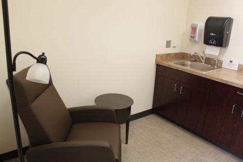 Lactation room on 4th floor of William S. White Building
