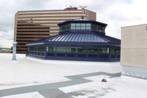 University Pavilion roof