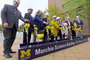 Campus and community leaders break ground on Murchie Science Building expansion
