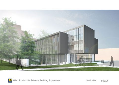 Murchie Science Building expansion | South View