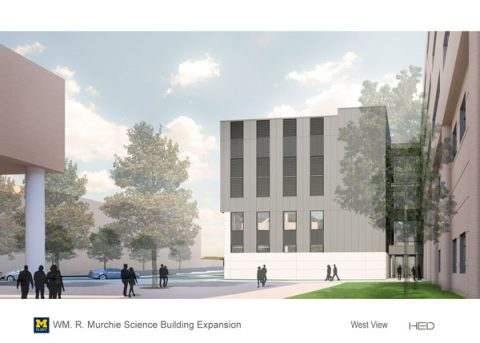 Murchie Science Building expansion | West View
