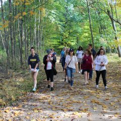 Students in Nancy Grigg's First-Year Experience course at For-Mar Nature Preserve & Arboretum
