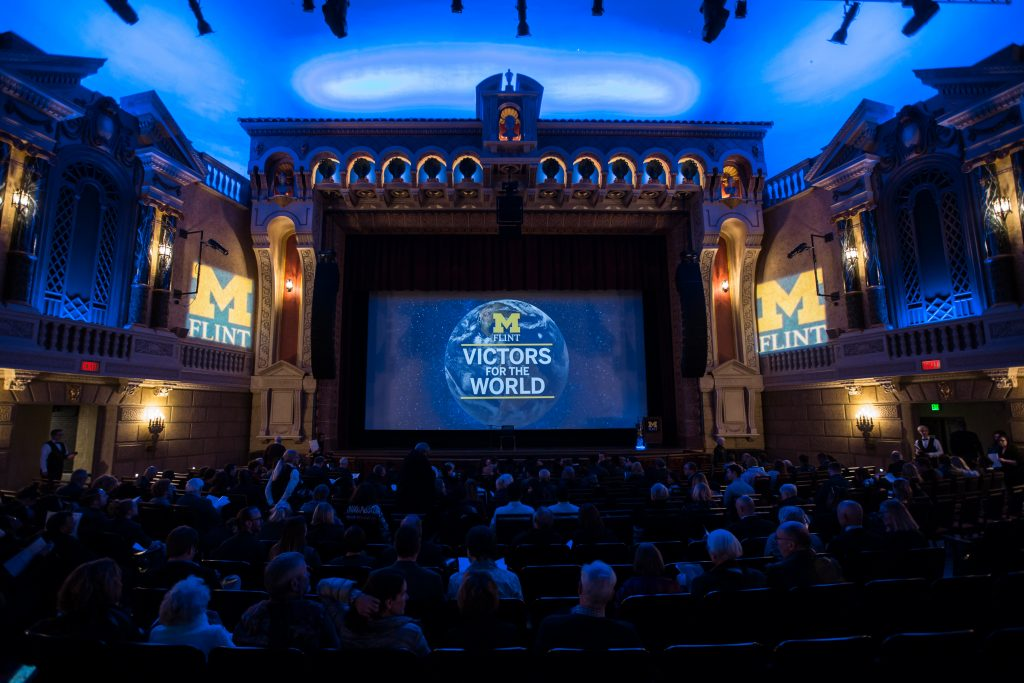 University of Michigan-Flint Victors for the World event at The Capitol Theater | photography by Pop Mod Photo's Ryan Garza and Courtney Simpson