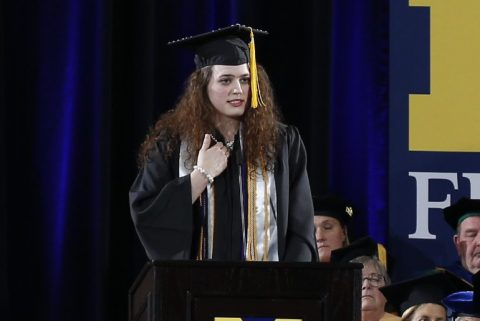 Hannah Karczewski was the 2018 December commencement ceremony student speaker.