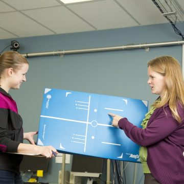 Jennifer Blackwood (right) is an associate professor of physical therapy at UM-Flint