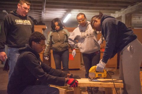 UM-Flint students volunteer on MLK Day