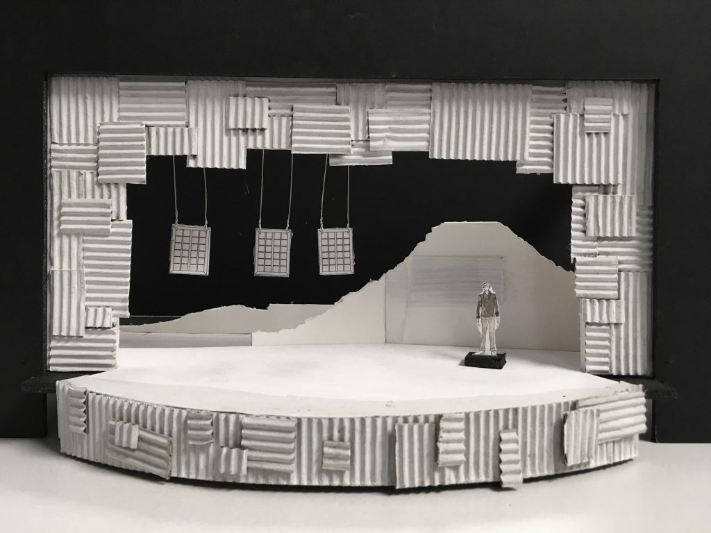"A rendering of Lisa Bilaski's set design for ""My Children! My Africa!"""