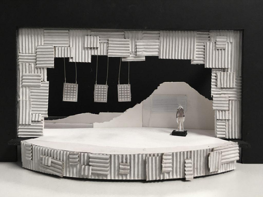 "A rendering of Lisa Bilaski's set design for ""My Children! My Africa!"""