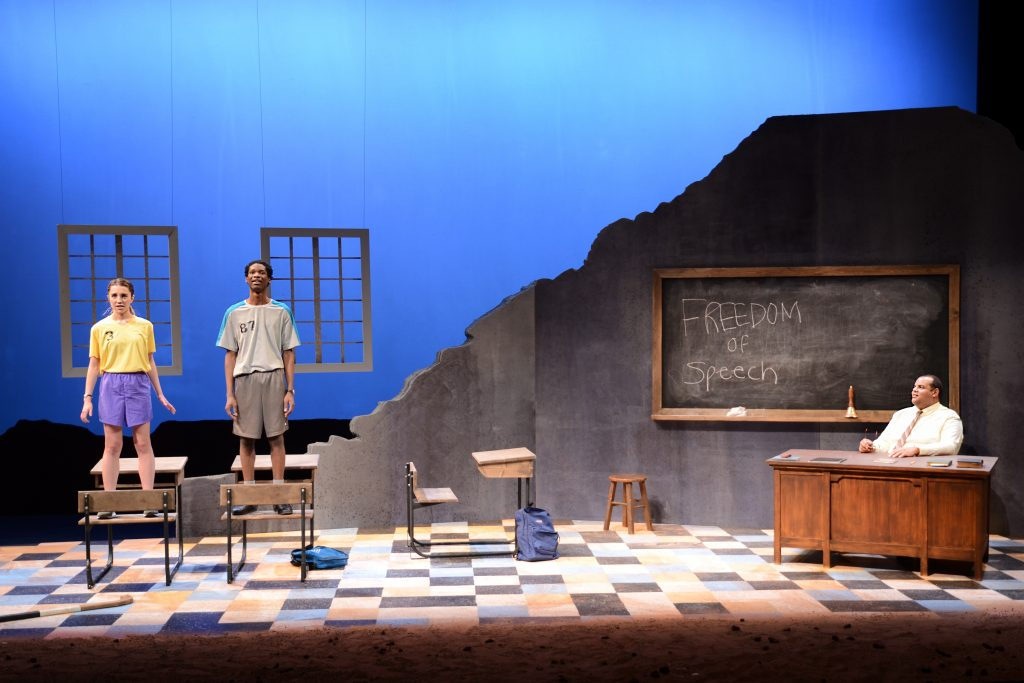 "UM-Flint's production of ""My Children! My Africa!"" 