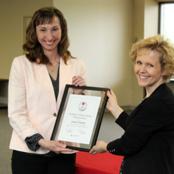 """Red Cross honors UM-Flint faculty for """"heroic and lifesaving actions"""""""