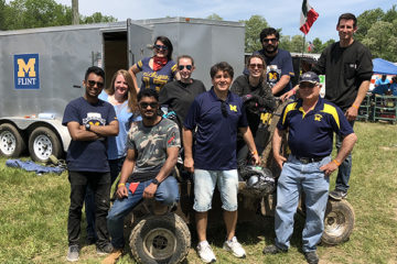 The UM-Flint Baja team, comprised of UM-Flint engineering students