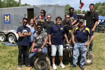 The UM-Flint Baja team, comprised of UM-Flint engineering students