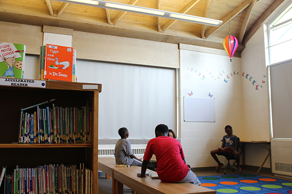 McMonagle Elementary in Flint opened its library during the summer to help students improve reading proficiency.