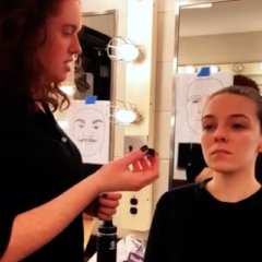 UM-Flint students give a makeup tutorial on how to create a zombie look