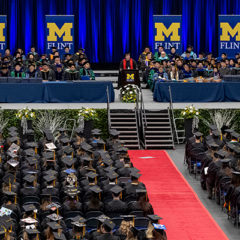 Graduates seated at the April 2019 commencement ceremony