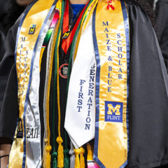 Maize and Blue Distinguished Scholar Award is the highest academic award bestowed upon the graduates of the University of Michigan-Flint.