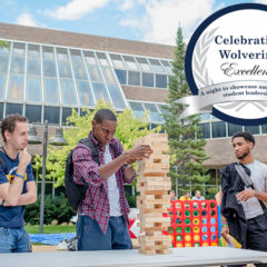 The UM-Flint Department of Student Involvement and Leadership (SIL) recognizes the leadership contributions of students at the university with the Celebrating Wolverine Excellence awards. (Photo by UM-Flint)