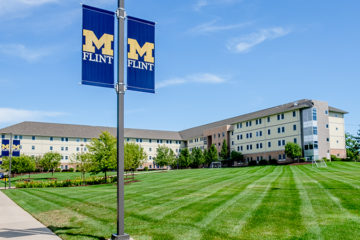 A grant from the Mott Foundation will allow the University of Michigan-Flint to provide housing in the First Street Residence Hall to area medical professionals during the COVID-19 pandemic free of charge. (Photo by UM-Flint)