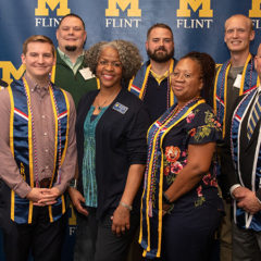 The Michigan Veterans Affairs Agency named UM-Flint a gold-level school for the 2019-20 year. UM-Flint has achieved the gold-level criteria every year since 2015 when the program was launched. (Photo by UM-Flint)