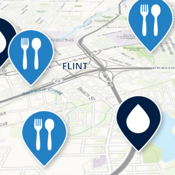 Outreach is mapping resources related to food, health, education, small business assistance, and more so that residents can easily find assistance during the COVID-19 pandemic (Graphic by Lindsay Stoddard/University Communications and Marketing)