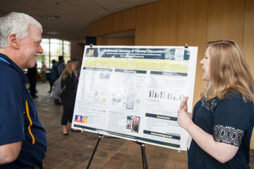 The annual Flint Student Research Conference is designed to provide undergraduate and graduate students from UM-Flint, Kettering University, and Mott Community College an opportunity to showcase their work and connect with peers and other professionals. (Photo by UM-Flint)