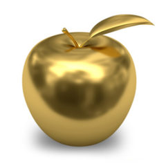 "UM-Flint Golden Apples are ""designed to acknowledge faculty for their good teaching, advising, and supervising."" Awardees are nominated by students."